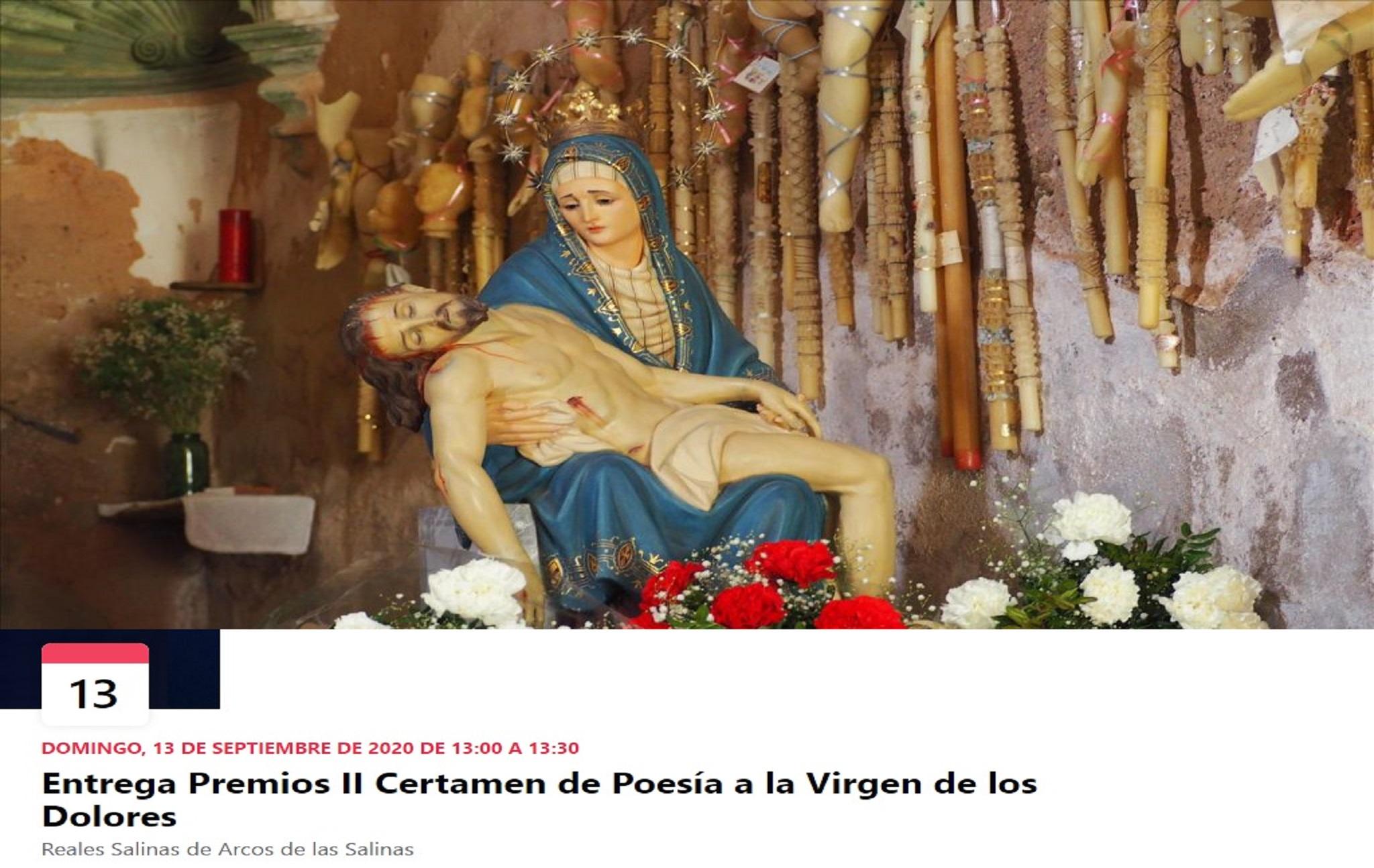 II CERTAMEN DE POESÍA A LA VIRGEN DE LOS DOLORES DE LAS SALINAS